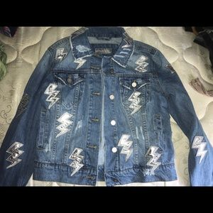 Lightning bolt Jean jacket